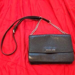 Michael Kors black medium size crossbody bag